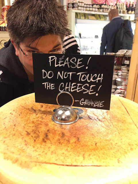 Beloved touching the cheese