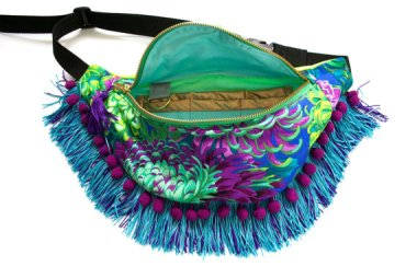 I think this fringed floral fanny pack (with pom-poms!) qualifies as elder abuse. By BeksiesBoutique