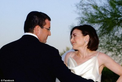 Sheryl Sandberg and Dave Goldberg on their wedding day in 2004
