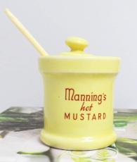 Vintage Manning's Hot Mustard Pot