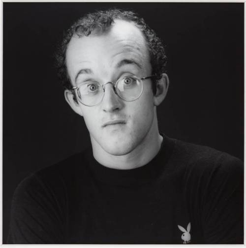 Keith Haring 1984 Robert Mapplethorpe 1946-1989 ARTIST ROOMS  Acquired jointly with the National Galleries of Scotland through The d'Offay Donation with assistance from the National Heritage Memorial Fund and the Art Fund 2008 http://www.tate.org.uk/art/work/AR00207