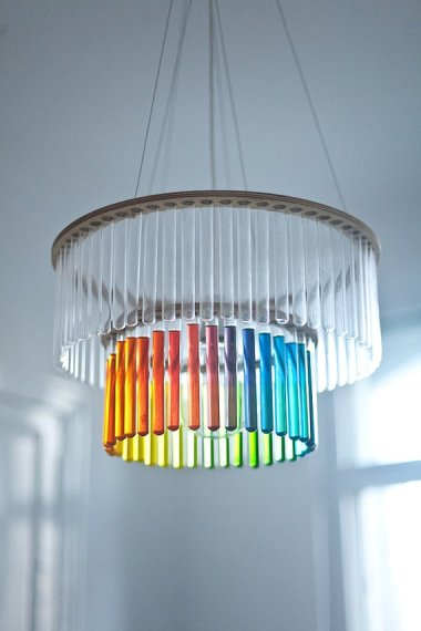 Test tube chandelier by PaniJurek