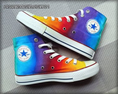 Custom-painted Converse high-tops by FeslegenDesign