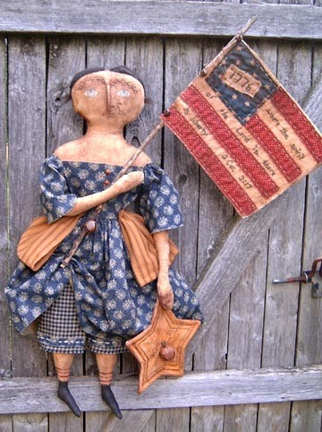 This doll does not look like she's having a very good Fourth. By Annie Beez