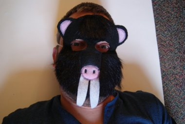 This mole mask is listed as a kid's birthday favor. What kid wants a mole-themed birthday party? By fAverittecreations