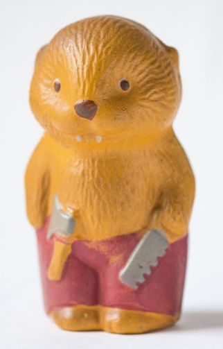 Russian beaver bath toy. Not at all what I thought Russian beaver would look like. By SovietEra
