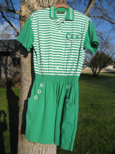 green adult romper by KathysFunCreations