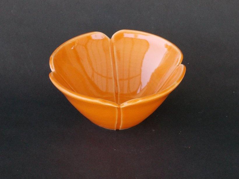 Orange Poppy Ring Bowl