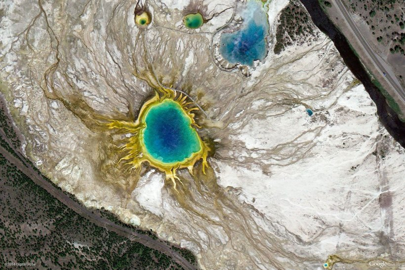 Yellowstone National Part, US (via Google Earth View)