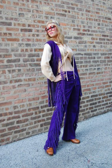 On the other hand, many, many children were produced in the sixties, in spite of the preponderance of purple suede fringe. By FrocksnFrillsVintage