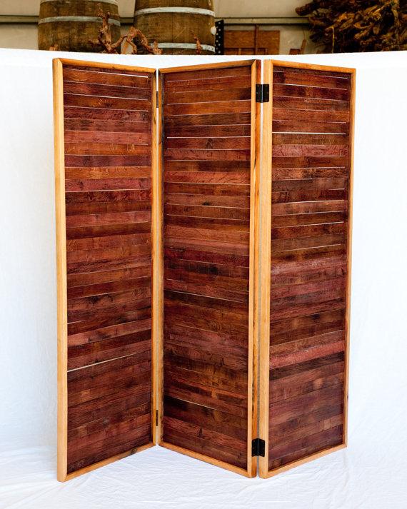 Wine Barrel Room Divider by winecountrycraftsman
