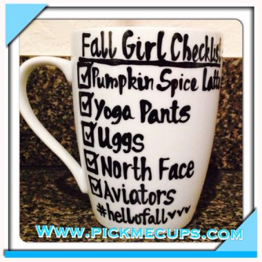 Basic bitches Fall checklist. By PickMeCups