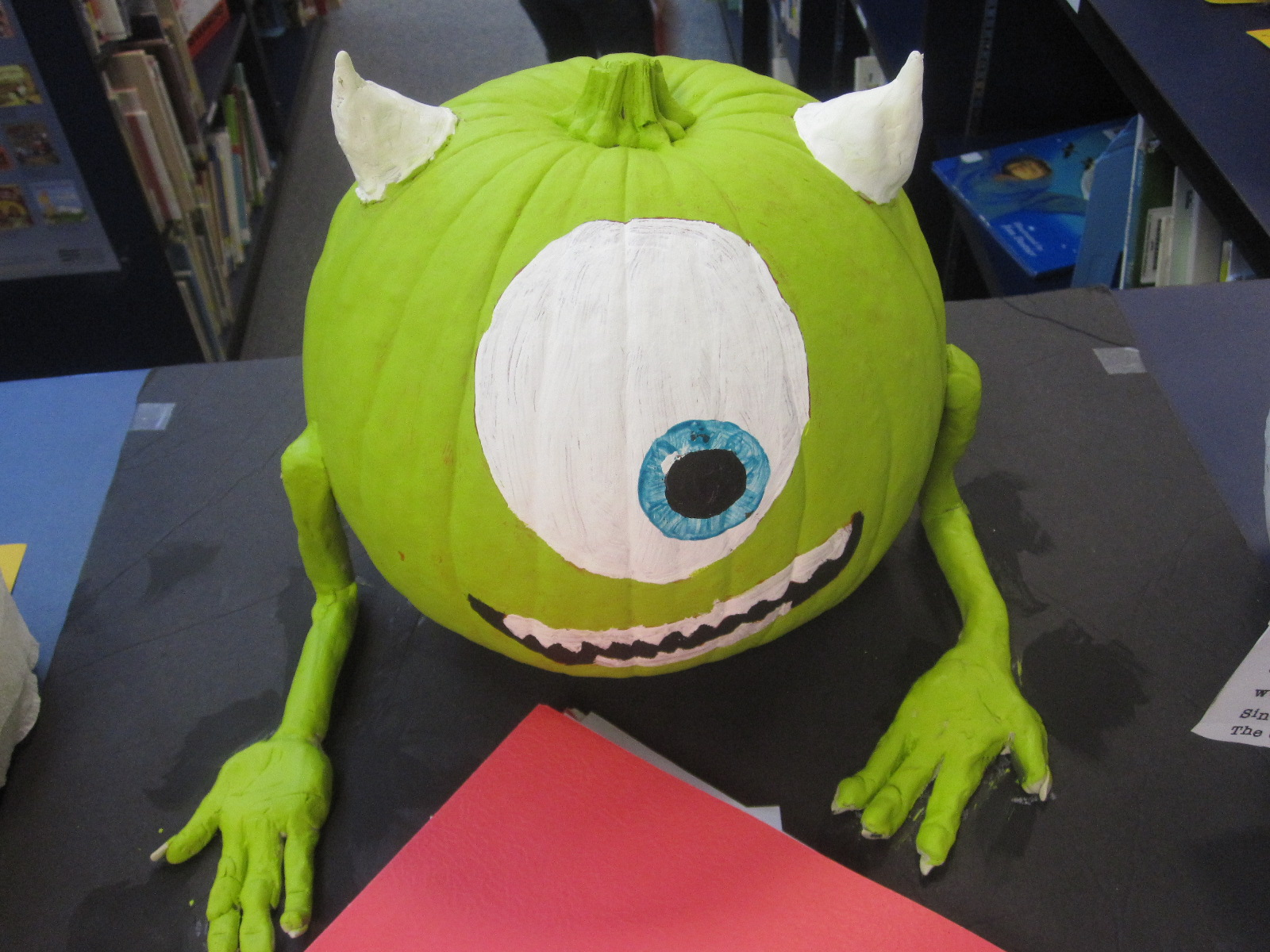 Materials: paint, clay, Monsters, Inc. DVD on repeat