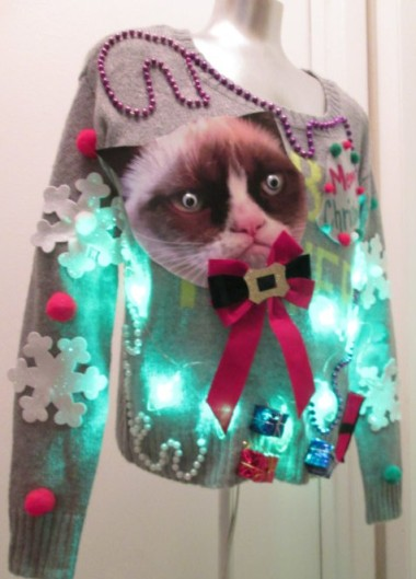This elevates the ugly Christmas sweater to a new level. By Thecostumestop