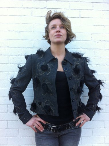Finally, a jacket that goes with your hairy mole! By HandPaintedGarments