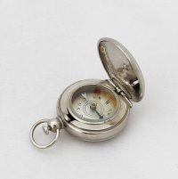 Antique German Miniature Hunter Compass / Compass Fob