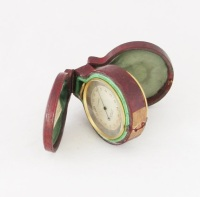 19th Century Swiss Pocket Barometer/Compass Compendium