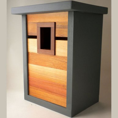 Modern craftsman birdhouse by TwigAndTimber