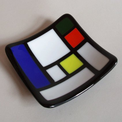 Mondrian-inspired glass dish by MinJean