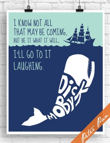 Moby Dick quote art by PeterPanPrints