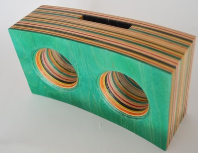 Smartphone amp made from old skateboards by GenuineWoodworking
