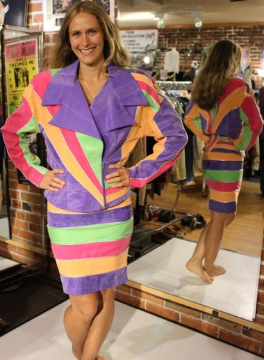 The 80s answer to a power suit, this is the most quintessential 80s garment ever made. I can''t hate it. By RockinRobinsEtsy