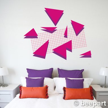 This wall decal feels like it should come with a hair crimper and a Duran Duran album. By BeepArt