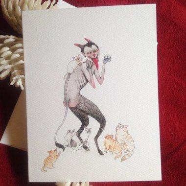 Merry Christmas from Agnes von Catbeard. By StupidAnimalShop
