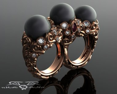 When thinking of pearl rings, the term badass doesn't usually come to mind. DeMerJewelry proved me wrong