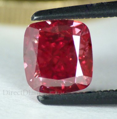 Natural red diamond?!? Who knew this was a thing! So much better than canary! By DirectDiamonds who carries quite the spectrum