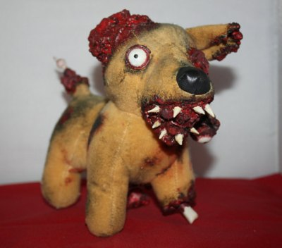 """Zombie Taco Dog"" by BethDeathHorrorDolls. Browse the rest of her store at your own peril"