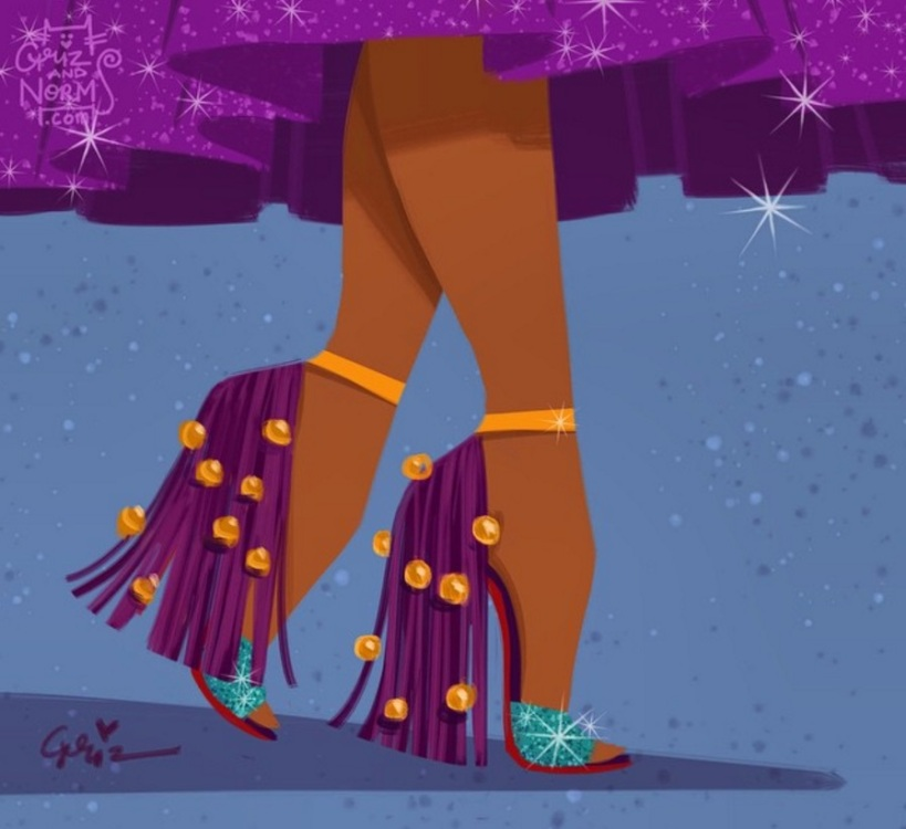 Esmeralda in Louboutin Otrot 120-inspired shoes