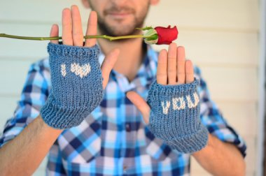 I admit it. I find sensitive men a little gross. But you have to admit that if you saw a straight man walking around wearing these, you'd punch him, too. By SmilingKnitting