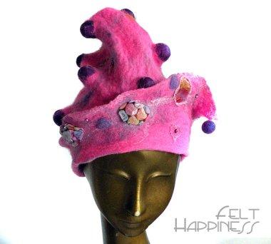"""""""Joyful Jester"""" Valentine's Day hat. Ho, boy. By FeltHappiness"""