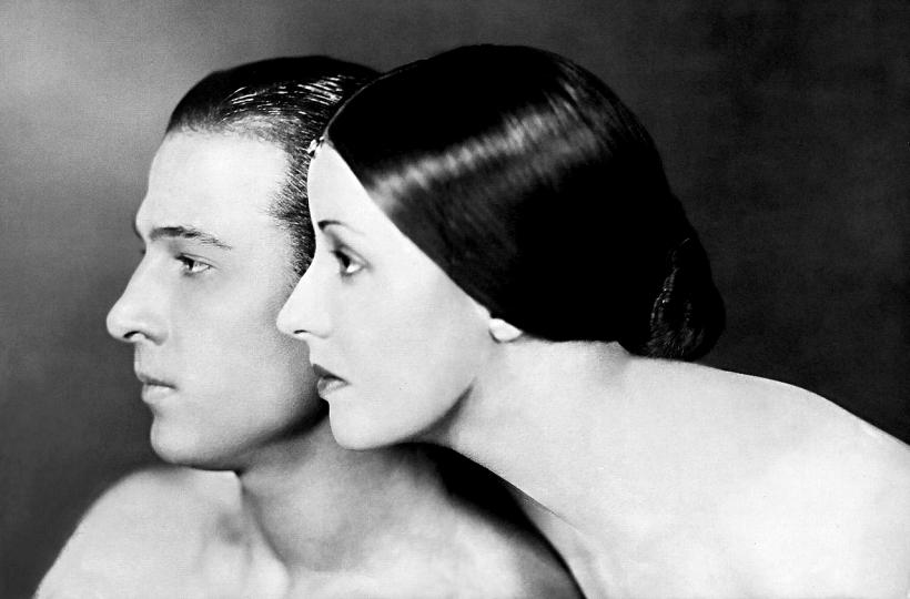Rudolph Valentino and Wife Natacha Rambova by James Abbe