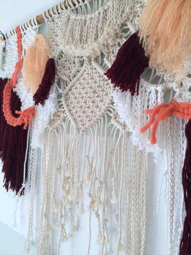 Remember when you didn't know that macrame headboards were a thing? Remember how nice that was? By BohoMontreal