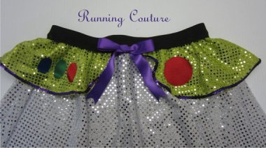 Perhaps the dopiest running skirt ever. By RunningCouture, if you can imagine