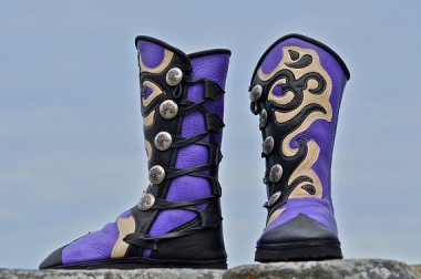 They're called yoga boots, but they look to me like Mexican wrestler shoes. By SoulPathShoes