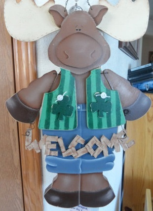 This is a vest for a lawn moose. I know, but that's what it says. By Countrypainting