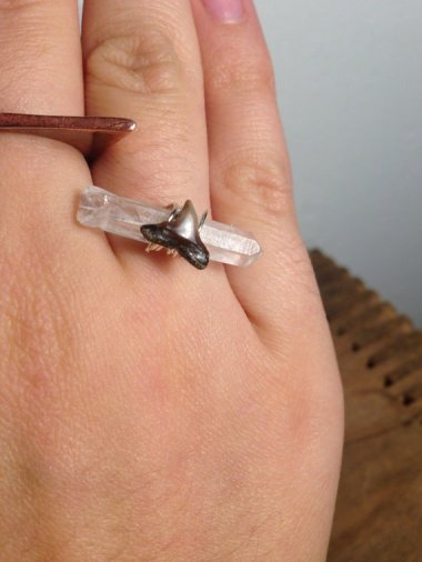 And while were on the subject of engagement rings made of dead things, heres a very tasteful crystal and rat tooth ring. Rat. Tooth. Ring. Theres an ROUS out there missing a tooth. By ScientificSpirits