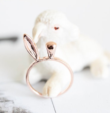 If this dainty little bunny ear ring is exactly what your intended wants, I'm pretty sure she needs parental consent to get married. By SFBF