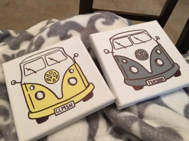 What is it about vintage VW lines that are so appealing? F.Y.I., you can order these in any color! By paintbyAshley
