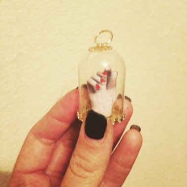 Tiny hand in a bell jar. Why? Nobody knows. By softpulpyhands