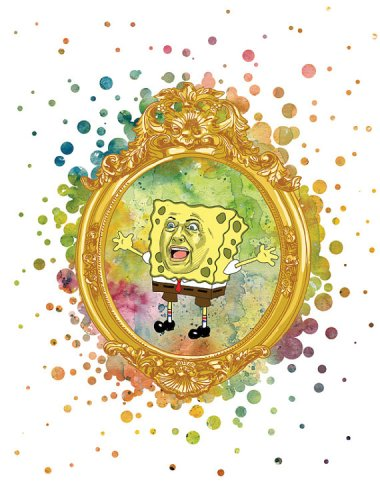Hillary as Spongebob. As odd as this is, it's not InnerStellarArt's weirdest work