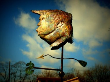 I don't want it on my house, but this Donald Trump weathervane really is amazing. (And there's a Ted Cruz edition, too!) By Davidcoppersmith