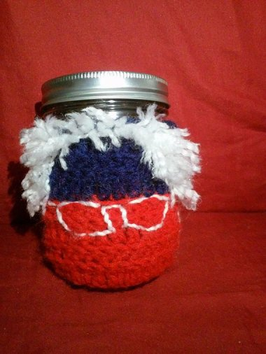 "I'm not sure Bernie would entirely approve of this ""Feel the Bern"" stash jar. They sure did get the hair right, though. By TheStickyStash"