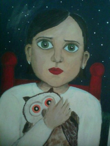 """The perfect addition to any nursery, """"Woman Smothering Owl."""" (Not the real title, but can you blame me?) By Magie7"""