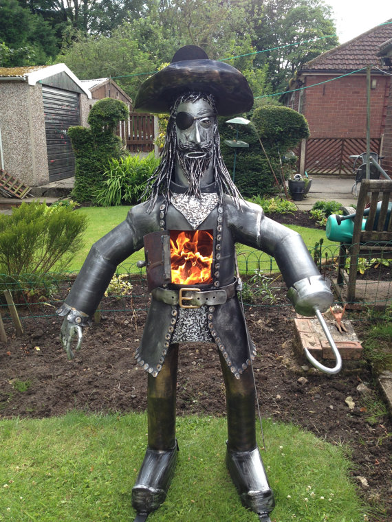 Now here's something you don't see every day! Pirate chiminea by UniqueBurners