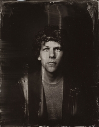 EXCLUSIVE PREMIUM RATES APPLY- Jesse Eisenberg poses for a tintype (wet collodion) portrait at The Collective and Gibson Lounge Powered by CEG, during the 2014 Sundance Film Festival in Park City, Utah. (Photo by Victoria Will/Invision/AP)