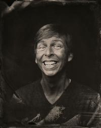 EXCLUSIVE PREMIUM RATES APPLY- Jack McBrayer poses for a tintype (wet collodion) portrait at The Collective and Gibson Lounge Powered by CEG, during the 2014 Sundance Film Festival in Park City, Utah. (Photo by Victoria Will/Invision/AP)